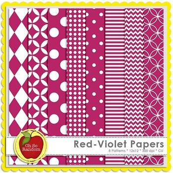 Red-Violet Basic Digital Papers
