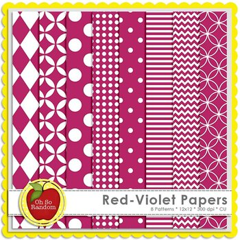 Red-Violet Basic Digital Papers