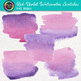 Red-Violet Watercolor Swatches Clip Art {Hand-Painted Textures for Backgrounds}