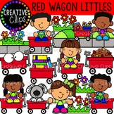 Red Wagon Kid Littles {Creative Clips Clipart}