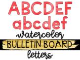 Red Watercolor Bulletin Board Letters