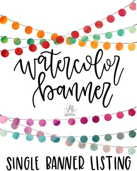 Red Watercolor Bunting Banner