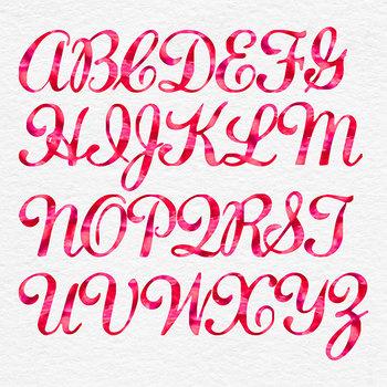 Red Watercolor Digital Font