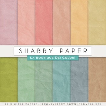 Vintage Shabby Digital Paper, scrapbook backgrounds