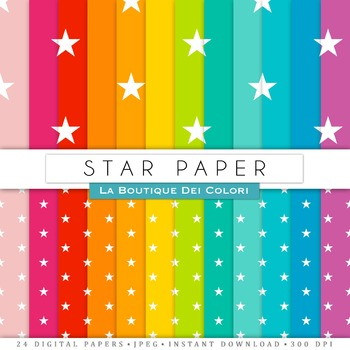 Stars Digital Paper, scrapbook backgrounds