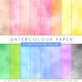 Seamless Watercolor Digital Paper, scrapbook backgrounds