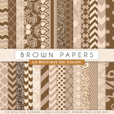 Brown Digital Paper, scrapbook backgrounds