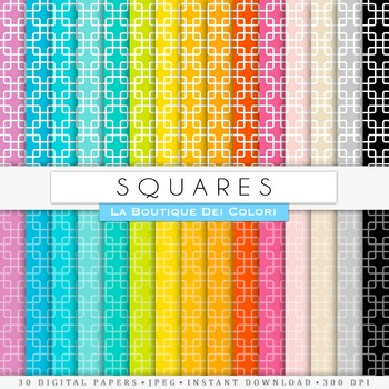 Squares Digital Paper, scrapbook backgrounds