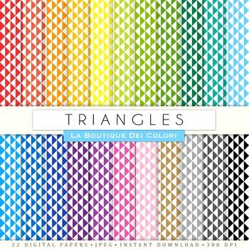 Triangles Geometric Digital Paper, scrapbook backgrounds