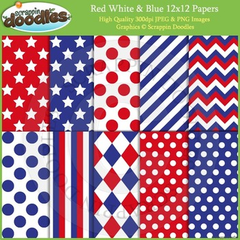 Red, White & Blue Backgrounds