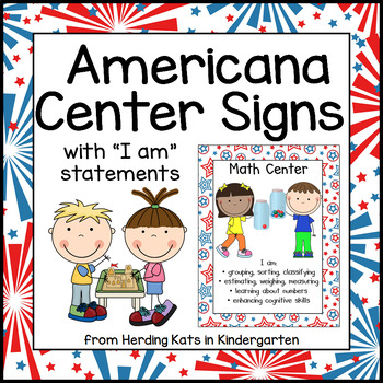 Red White & Blue Americana Center Signs