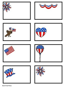 Red, White, & Blue Classroom Printables