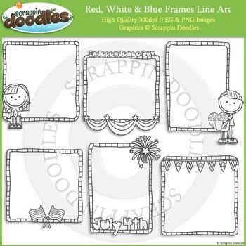 Red, White & Blue Frames