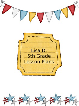 Red, White & Blue Patriotic Themed Lesson Plans Binder Pla