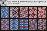 Red, White, & Blue Patterned Backgrounds - Patriotic