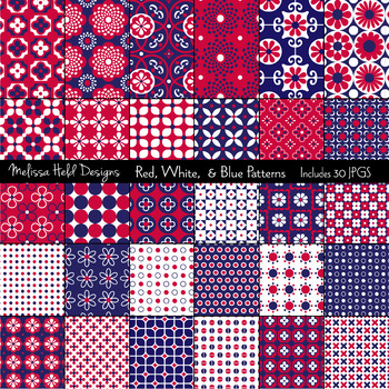 Red, White & Blue Patterns