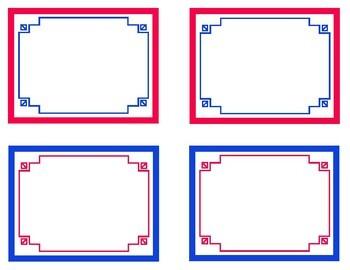 Red, White, & Blue Printable Classroom Decor