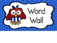 Red, White & Blue Word Wall