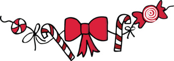 Red & White Christmas Clipart