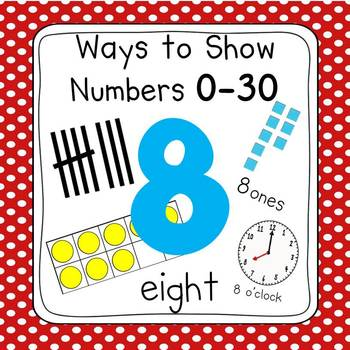 Red & White Dot Numbers 0-30 Posters (Ten Frames, Tallies,