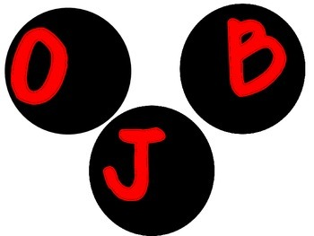 Red, White and Black Polka Dot Objective Signs