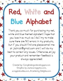 Red, White and Blue Alphabet