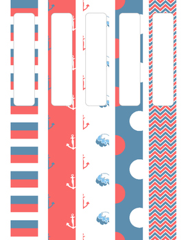 Red White and Blue Anchor Binder Cover