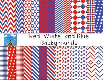 Red, White, and Blue Backgrounds