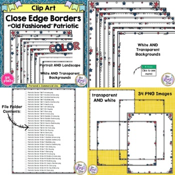 Red, White and Blue Border BUNDLE of 2 products of Close Edge American Frames