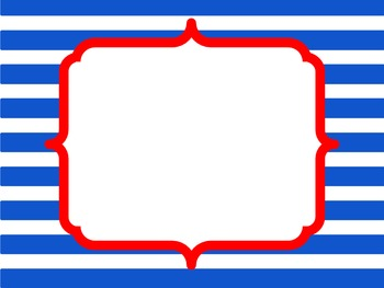 Red White And Blue Borders And Frames By Clipart Couple Tpt