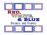 Red, White and Blue Borders and Frames