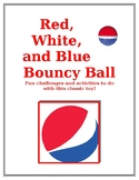 Red, White, and Blue Bouncy Ball Package