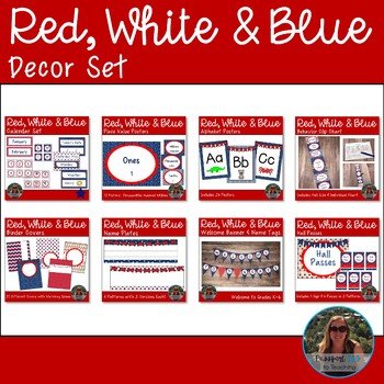 Red White and Blue Decor Bundle