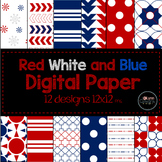 Red, White, and Blue Digital Paper