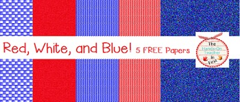Red, White, and Blue Digital Papers {FREEBIE}