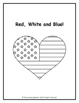 Red, White and Blue Heart!
