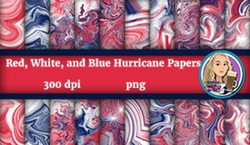 Red, White, and Blue Hurricane Papers