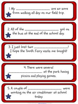 Red, White, and Blue: Irregular Plural Nouns FREEBIE