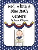 Red, White, and Blue Math Centers: place value and addition/subtraction