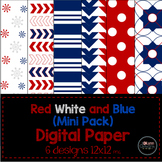 Red, White and Blue Mini Pack Digital Paper