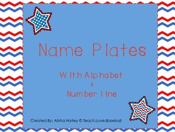 Red, White and Blue Name Plates