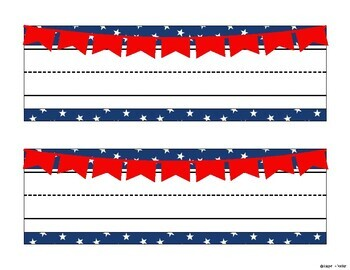 Red White and Blue Name Plates