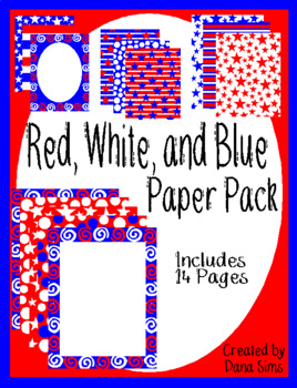 Red, White, and Blue Paper Pack