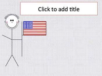 red white and blue patriotic theme powerpoint template by kelly coombe
