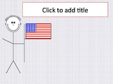 Red, White, and Blue Patriotic Theme PowerPoint Template