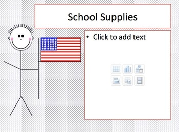 Red, White, and Blue Patriotic Themed Back to School Night PowerPoint Template