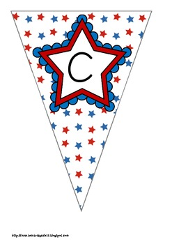 Red, White, and Blue Patriotic Themed Buntings- Customize Your Own Banner!
