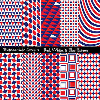 Red, White, & Blue Geometric Patterns
