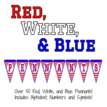 Red, White and Blue Striped Pennants