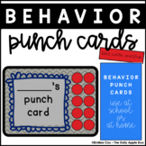 Red, White, and Blue Positive Behavior Punch Cards